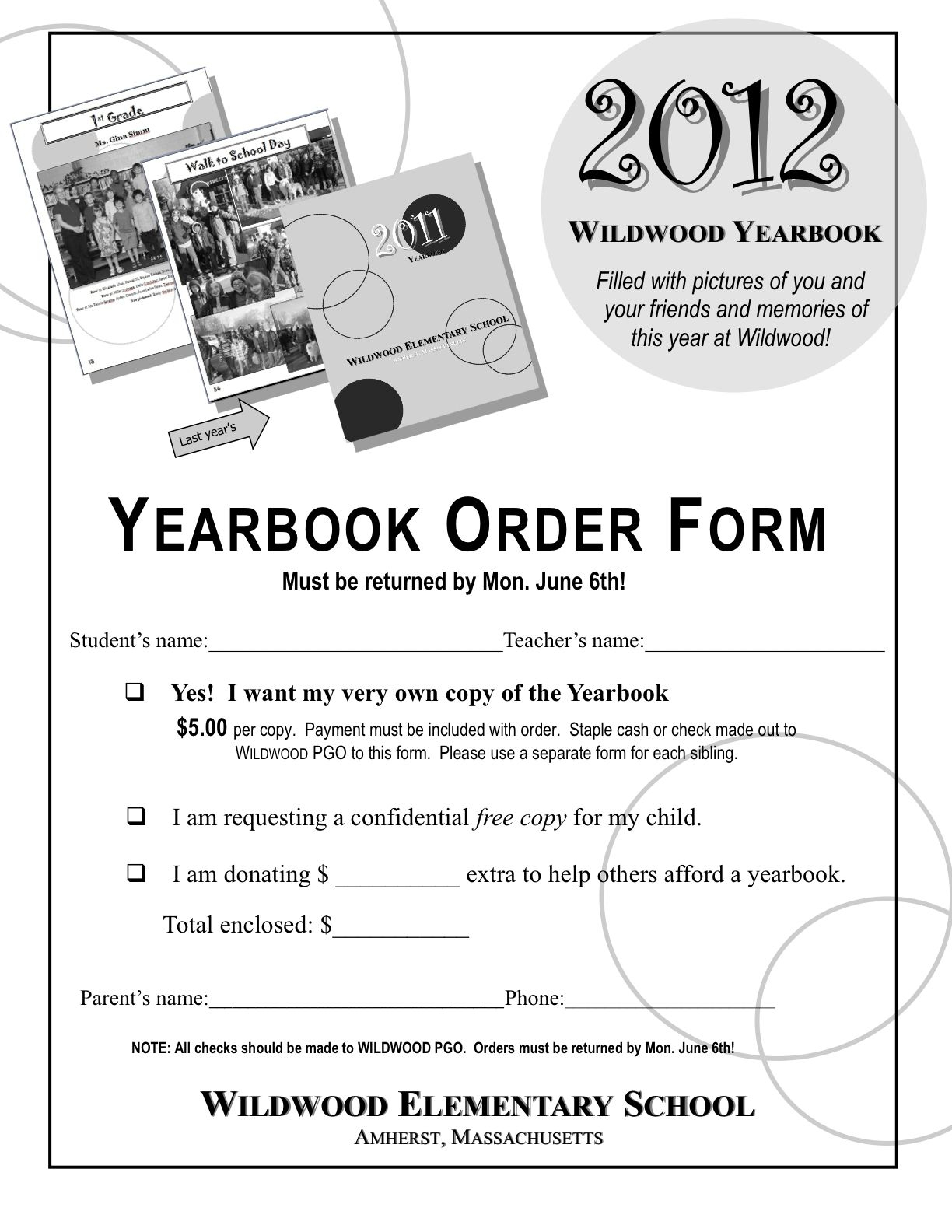 Yearbook Order Form Template - Google Search | Yearbook Design Ideas - Free Printable Yearbook Templates