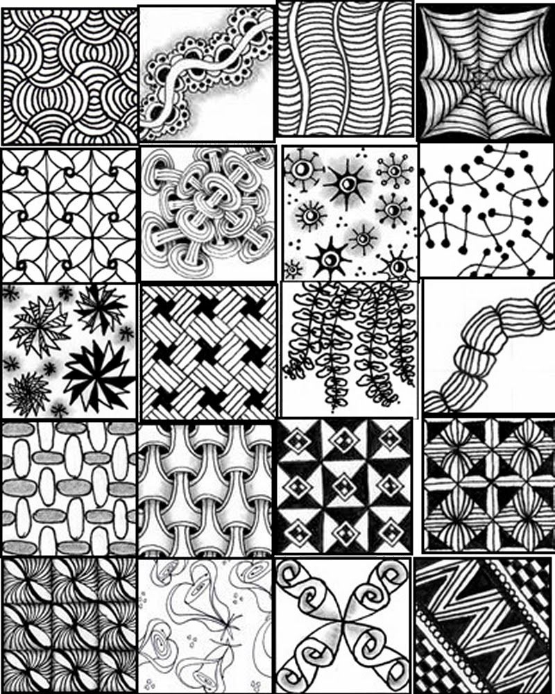 Zentangles Patterns Free Printables |  Printable Sheets To Serve - Free Printable Zentangle Templates