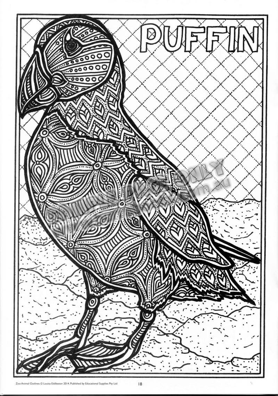 Zoo Animal Outlines - Burrabooks - Australian Educational Books - Free Printable Arty Animal Outlines